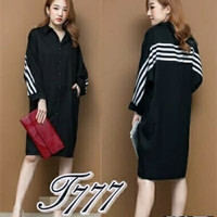 Dress Combi Fashion Korean