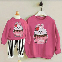 Couple Mom Kid Blouse Cupcake Conny