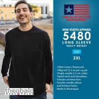 New States Apparel COLOR Heavy Weight Long Sleeve 5480 Size 2XL