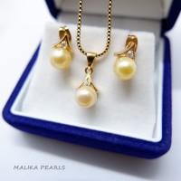 Set Perhiasan Mutiara Air Laut Asli Kado Hadiah Ulang Tahun Unik L