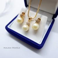 Set Perhiasan Mutiara Air Laut Asli Gift Hadiah Mewah dan Unik L1