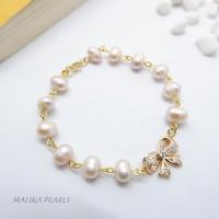 Aksesoris Gelang Mutiara Air Tawar Asli Gift Perhiasan Unik dan Mewah1