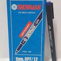 Spidol Permanen Marker Snowman OHP Fine Biru