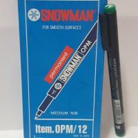 Spidol Permanen Marker Snowman OHP Medium Hijau