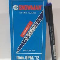 Spidol Permanen Marker Snowman OHP Medium Biru