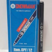 Spidol Permanen Marker Snowman OHP Fine Hitam