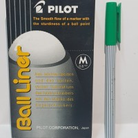 Pulpen Pilot Ball Liner Hijau
