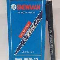 Spidol Permanen Marker Snowman OHP Medium Hitam