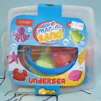 mainan pasir kinetik magic sand kontener box