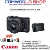 Canon EOS M200 Kit 15-45mm IS STM Paket Lengkap