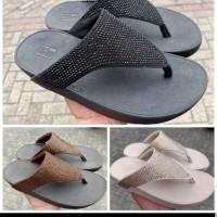 sandal fitflop wanita rockit - hitam
