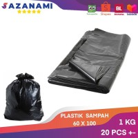 PLASTIK SAMPAH 90 X 120 PLASTIK HITAM SAMPAH 1KG TRASH BAG PLASTIK HD