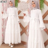 Gamis Renda Rok Susun Baju Gamis Wanita Terbaru 8347