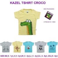 Kazel Tshirt Boy Croco Edition / Atasan Kaos Anak Laki Laki