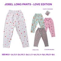 Kazel Jobel Long Pants Love 1 Pack Isi 4 Pcs / Celana Panjang Anak