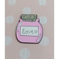 Magnet Jarum - Love Pink 1