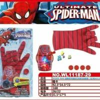 sarung tangan spiderman glove & gelang senjata spiderman avenger