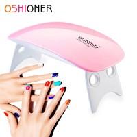SUNmini Pengering Kutek Kuku UV LED Nail Dryer 6W Pink thumbnail