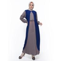 Okechuku DINAR Baju Gamis Wanita Terbaru / Baju Muslim Wanita Plisket