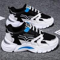 Sepatu Sneakers Olahraga Pria keren bahan Mesh Breathable Original - P