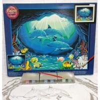 Paket Melukis Paint By Number Dimensions 91302 Deep Sea Paradise Lumba