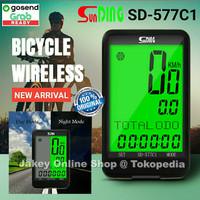 Bicycle Speedometer Sunding SD-577C1 Wireless Sepeda SD577C1 SD 577C1
