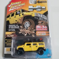 Johnny Lightning Hummer H2 offroad kuning hitam mijo exclusive JL TLC