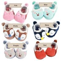 Kaos kaki korea bayi baby 3D, fleece bulu boneka anti selip