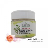 Patnam Folives Matcha Green Tea Face Mask - Masker Bubuk Organik Natur