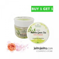 Patnam BUY 1 GET 1 Folives Matcha Green Tea Face Mask Natural Masker B