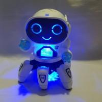 Mainan Robot Anak Cruzer octo remix dancing joget lampu gerak musik