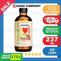 CHILDLIFE CHILD LIFE PURE COD LIVER OIL VITAMIN DHA OTAK ANAK 237 ML