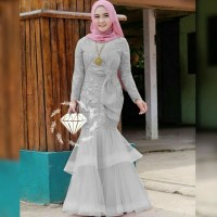 Baju Pesta Model Gamis Brokat 2020 Hijabfest