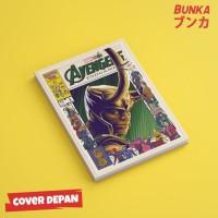 Notebook Marvel Avengers Loki Hardcover A5 Buku Tulis Catatan Note
