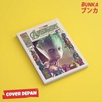 Notebook Marvel Avengers Groot Hardcover A5 Buku Tulis Catatan Note