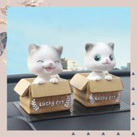 MAINAN ANAK PAJANGAN MOBIL KUCING LUCKY CAT BOBBLE HEAD LUCKY CAT SATU