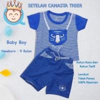 Baju Setelan Kaos Bayi Canasta 3D, Usia 3 - 9 BL Bahan Lembut dan Adem