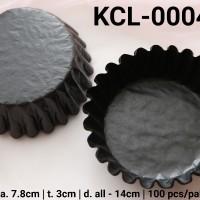 KCL-0004-A Kertas cupcake DIVA cupcake case besar large hitam