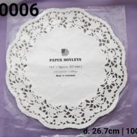 """DR-0006 DIVA paper doyleys alas kue kertas renda bulat round 10.5"""""""