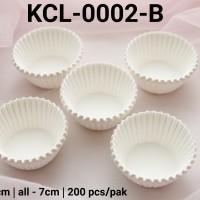 KCL-0002-B Kertas cupcake DIVA cupcake case kertas nastar kecil putih