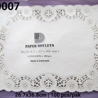 """DR-0007 DIVA paper doyleys alas kue persegi panjang 10,5x14.5"""""""
