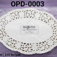 "OPD-0003 Paper doyleys alas kue kertas renda oval 8"" x 12"""