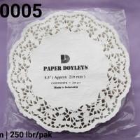 """DR-0005 DIVA paper doyleys alas kue kertas renda bulat round 8.5"""""""