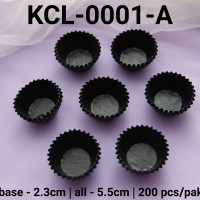 KCL-0001-A Kertas cupcake DIVA cupcake case kertas nastar mini hitam