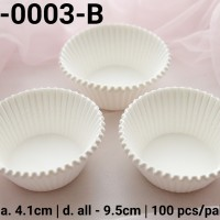 KCL-0003-B Kertas cupcake DIVA cupcake case ukuran sedang putih