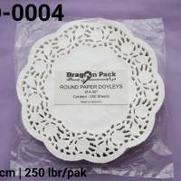 "RPD-0004 Round Paper Doyleys kertas doyleys bulat 6.50"""