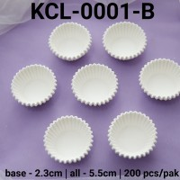 KCL-0001-B Kertas cupcake DIVA cupcake case kertas nastar mini putih