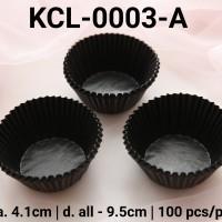 KCL-0003-A Kertas cupcake DIVA cupcake case ukuran sedang hitam