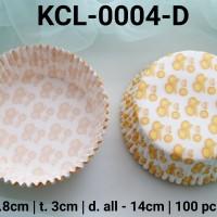 KCL-0004-D Kertas cupcake DIVA cupcake case besar large motif