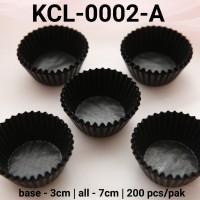 KCL-0002-A Kertas cupcake DIVA cupcake case kertas nastar kecil hitam